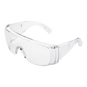 عینک ایمنی بغل کرکره ای تک پلاست