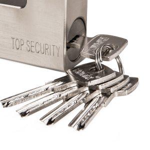 قفل کتابی فولادی با کلید آهنی - سایز 94 میلیمتری رونیکس مدل RH-4293