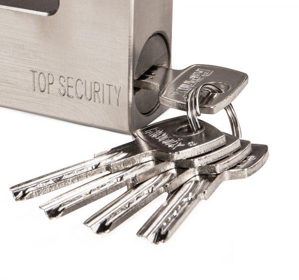 قفل کتابی فولادی با کلید آهنی - سایز 94 میلیمتری مدل RH-4293