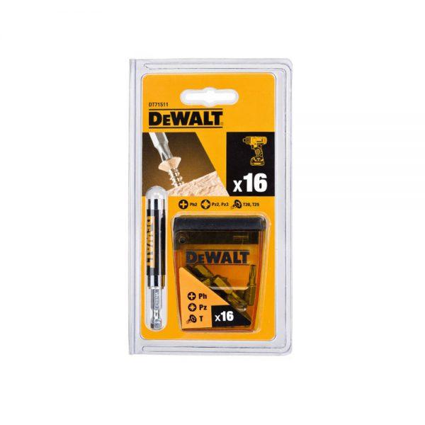 مجموعه 16 عددی سرپیچ گوشتی دیوالت DT71511
