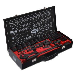 جعبه بکس 27 پارچه مشکی رونیکس مدل RH-2627