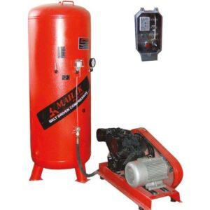 کمپرسور 1200 لیتری سه فاز 4 سیلندر (2 سیلندر تولید، 2 سیلندر فشار) محک مدل AP-1202S