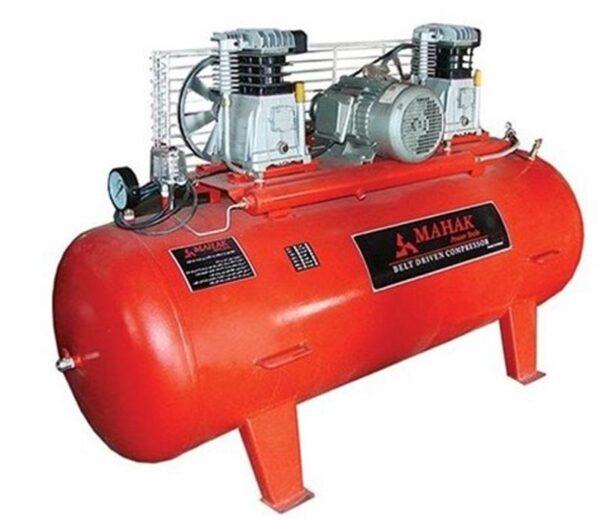 کمپرسور باد 600 لیتری سه فاز 2 سیلندر ( یک سیلندر تولید، یک سیلندر فشار ) محک مدل AP-601