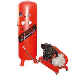 کمپرسور 600 لیتری سه فاز 2 سیلندر (یک سیلندر تولید، یک سیلندر فشار) محک مدل AP-602S