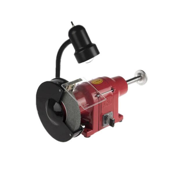 ماشین سنگ پرداخت 1-200 میلیمتر 700 وات (3000 دور) چراغ دار محک مدل PGD-200-1 L