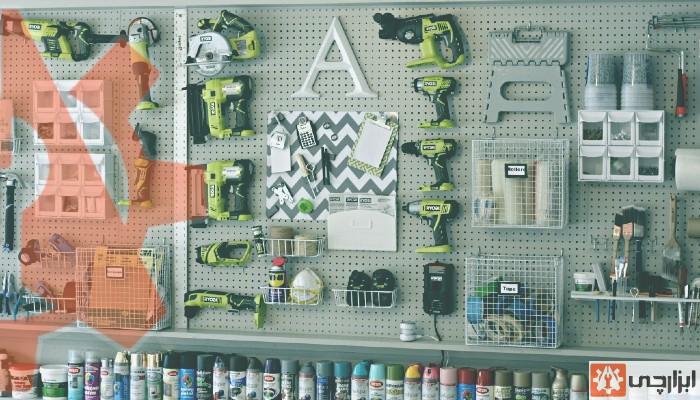 نحوه چیدمان ابزار در طبقهها و دیزاین و طراحی طبقات در مغازه ابزارفروشی